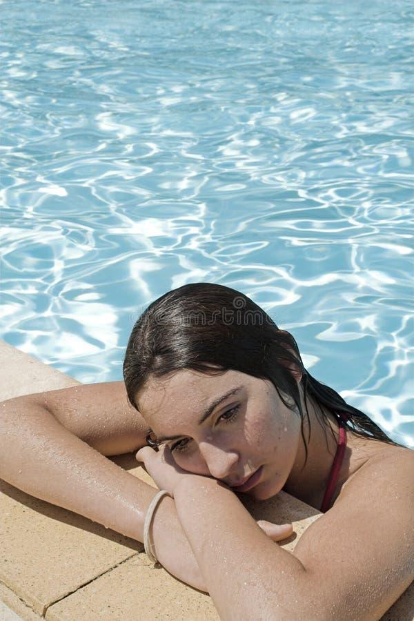 Adolescente triste imagem de stock