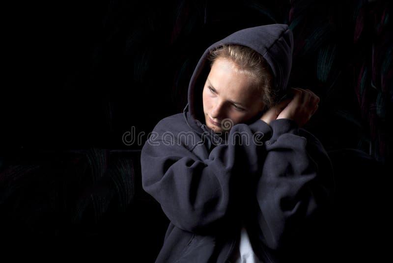 Adolescente triste immagine stock