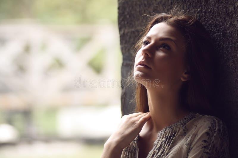 Adolescente triste foto de stock royalty free