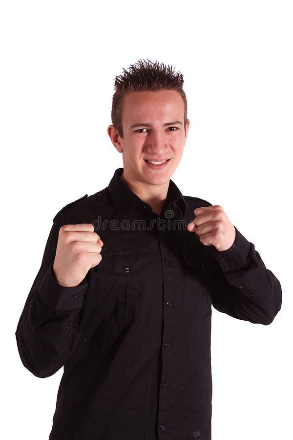 Adolescente valente foto de stock
