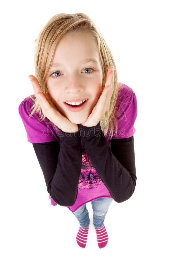 Adolescente veduto da sopra fotografia stock