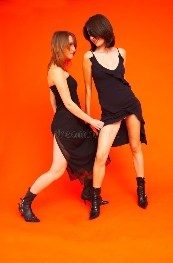 Adolescentes 2 da dança foto de stock