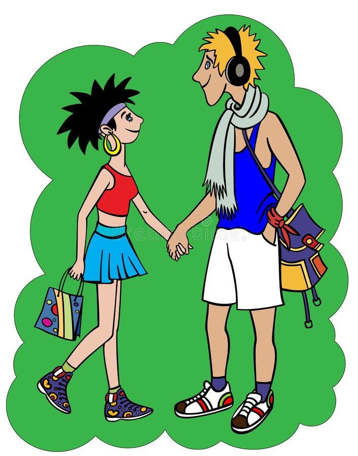 Adolescentes libre illustration