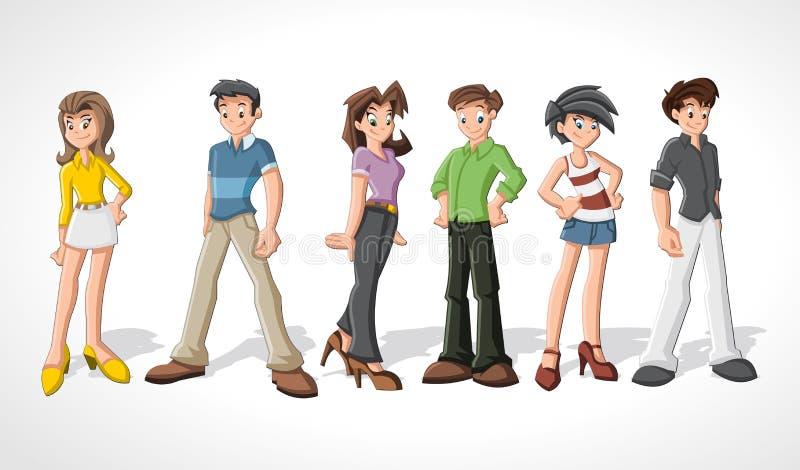 Adolescentes. ilustração do vetor
