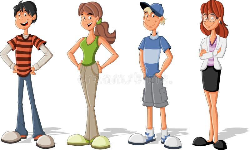 Adolescentes ilustração stock