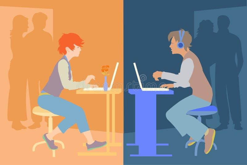 Adolescentes ilustración del vector
