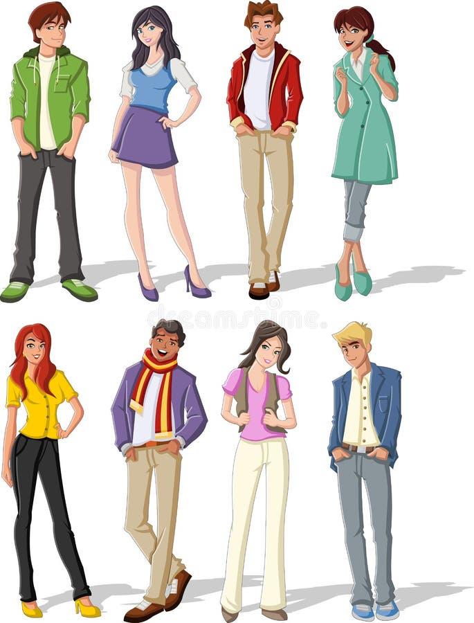 Adolescentes. ilustração royalty free