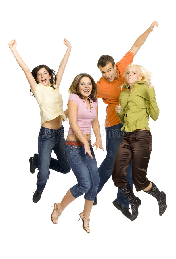 Adolescentes alegres imagem de stock