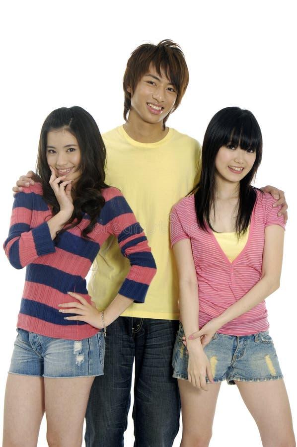 Adolescentes asiáticos imagem de stock