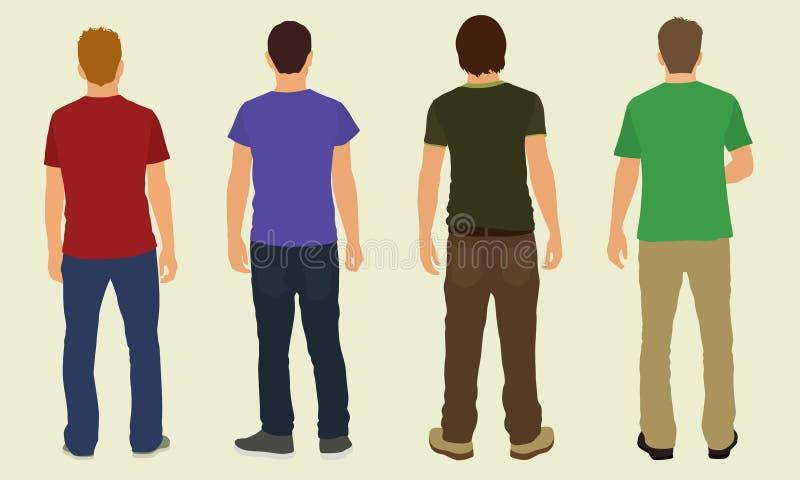 Adolescentes de atrás ilustração do vetor