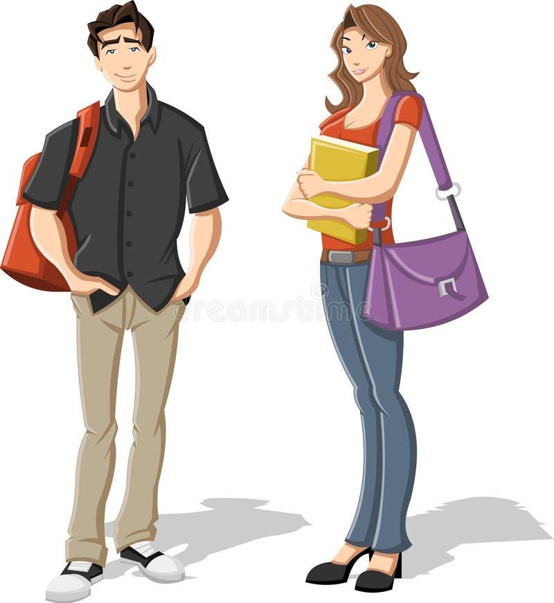 Adolescentes dos desenhos animados. ilustração royalty free