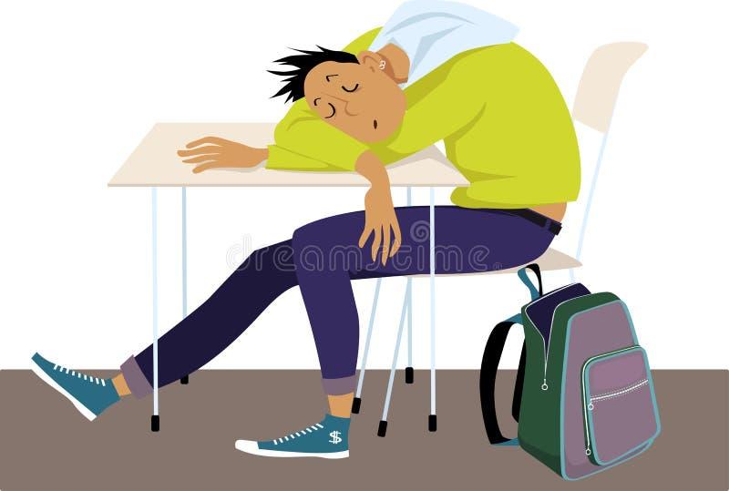 Adolescentes e problemas do sono ilustração stock