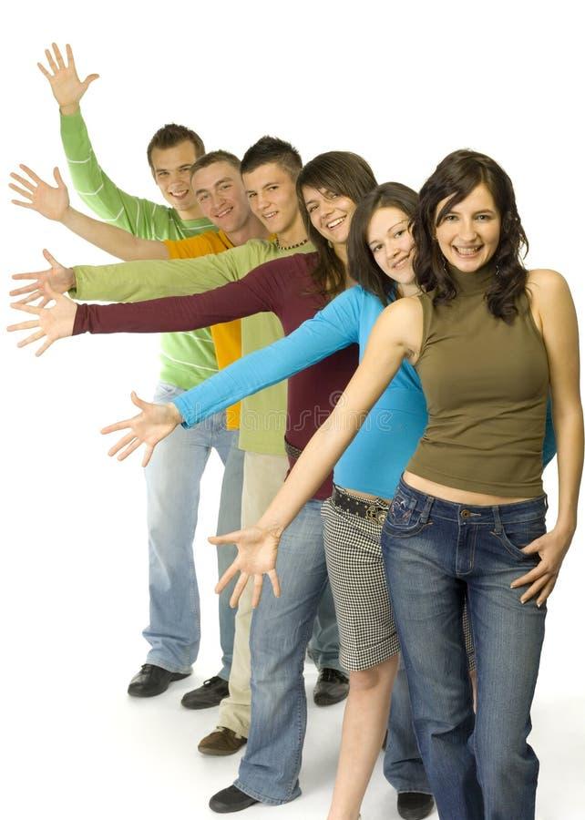 Adolescentes en el paso de progresión imagen de archivo