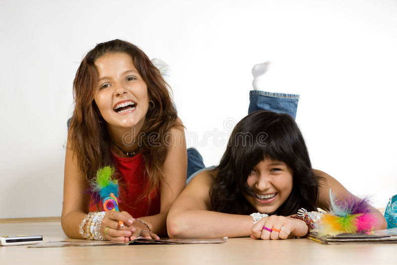 Adolescentes felizes   fotografia de stock royalty free