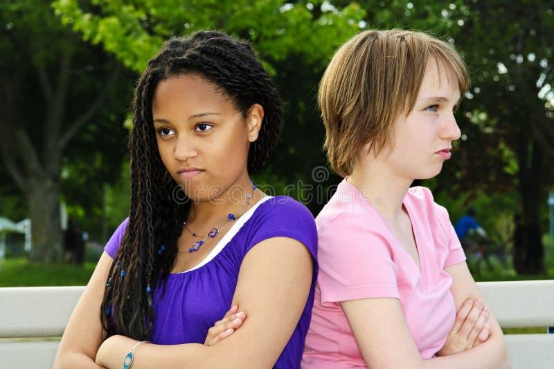 Adolescentes irritados imagem de stock