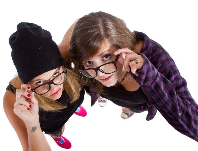 Adolescentes nerdy novos imagens de stock