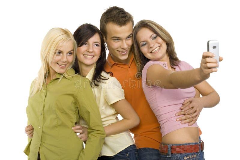 Adolescentes que fazem o retrato fotos de stock