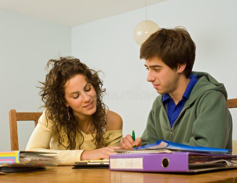 Adolescenti che studing fotografie stock libere da diritti