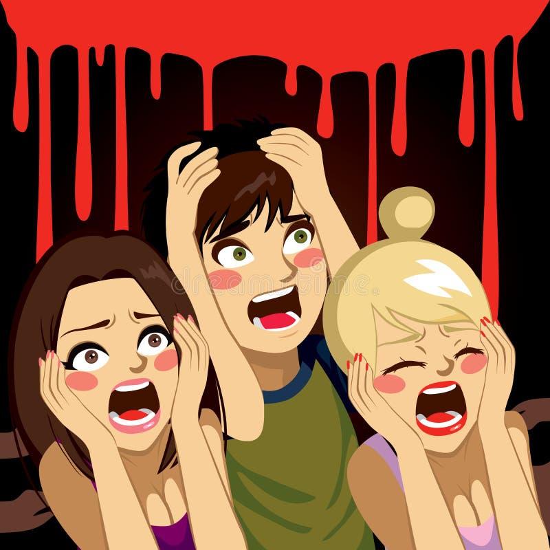 Adolescenti di Halloween che gridano illustrazione vettoriale
