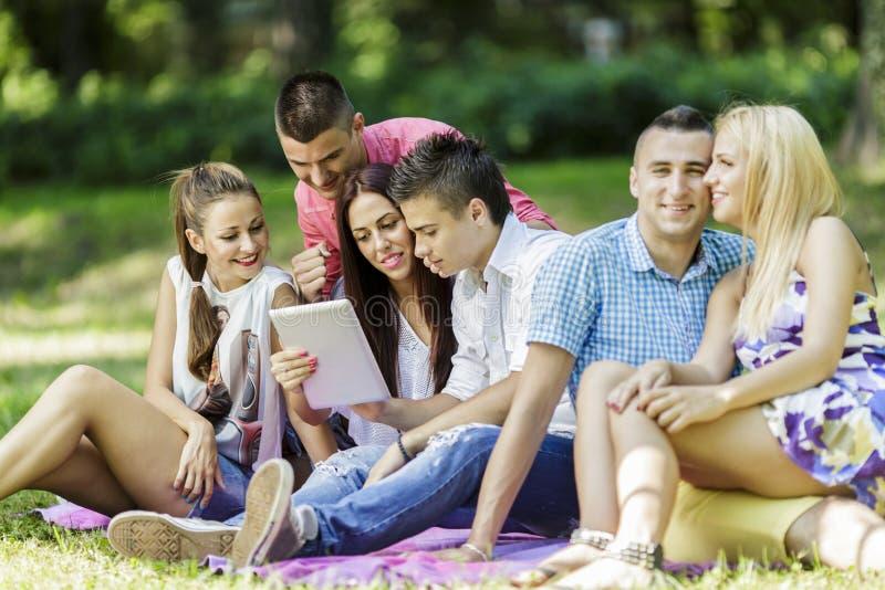 Adolescenti nel parco immagini stock libere da diritti