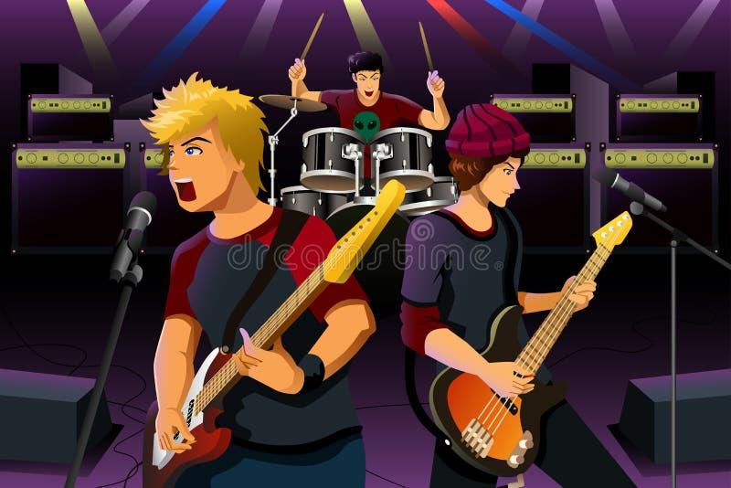 Adolescenti in una banda rock illustrazione vettoriale