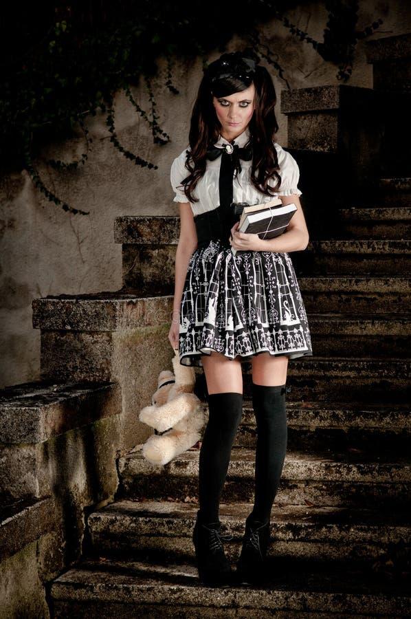 Adolescentie schoolmeisje Lolita stock foto