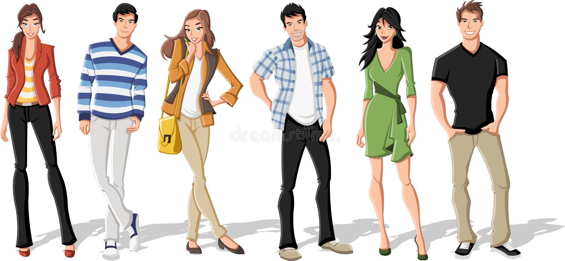 Adolescents illustration libre de droits