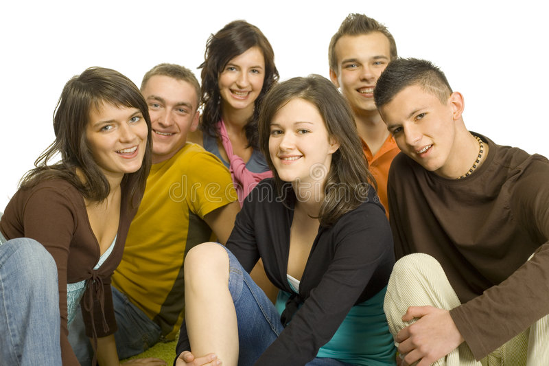 adolescents de groupe photo libre de droits
