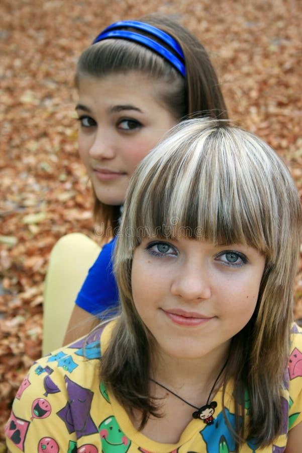 adolescents deux photo libre de droits