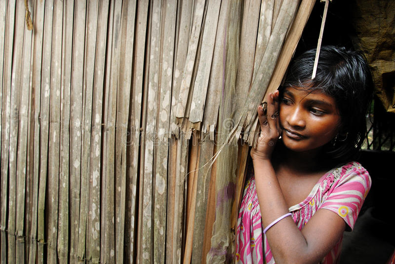 Adolescents girl in India. royalty free stock photography