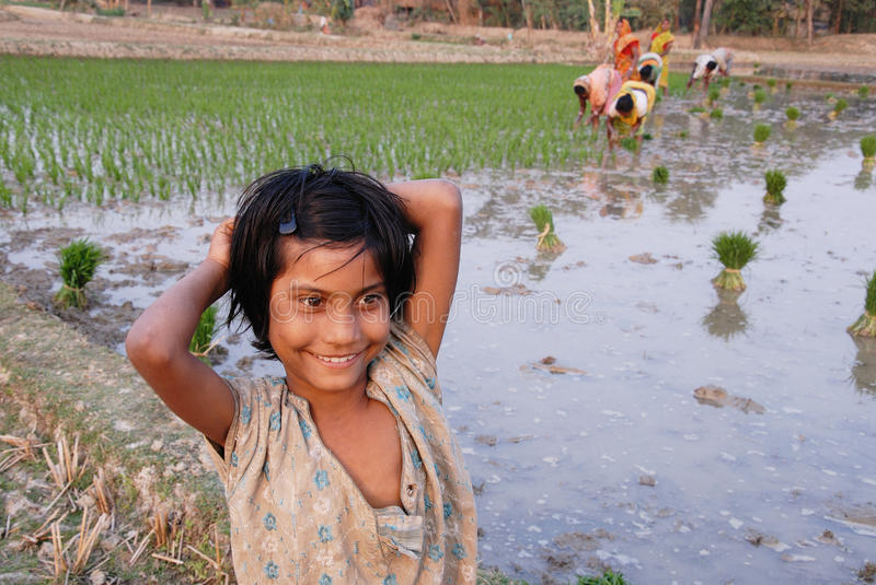 Adolescents Girl in rural India stock image