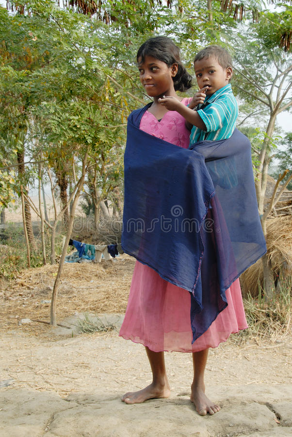 Adolescents Girl in rural India stock photography