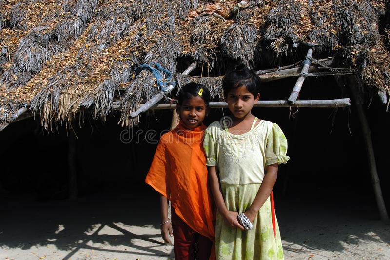 Adolescents in India. February 12, 2011.West Bengal,India,Asia-In India adolescent girls at the rural areas could be at greater risk of nutritional stress royalty free stock photo