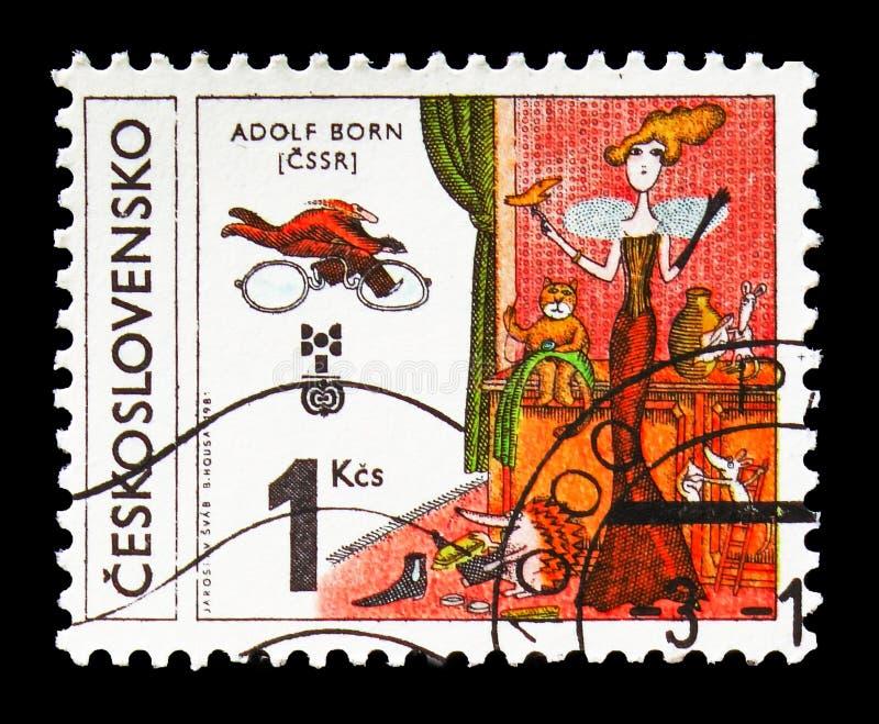 Adolf Born, Checoslováquia, serie do BABADOR, cerca de 1981 fotografia de stock royalty free