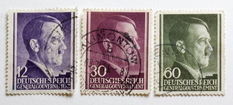 Download Adolf Hitler Portrait On Three German World War II Royalty Free Stock Images - Image: 5222359