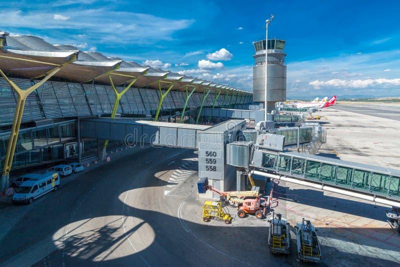 Adolfo Suarez Madrid Barajas Airport royalty-vrije stock foto's