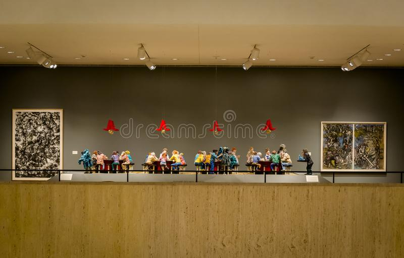 Adolph Rosenblatt escultura Oriental Pharmacy Lunch Counter, 1987 fotografia de stock