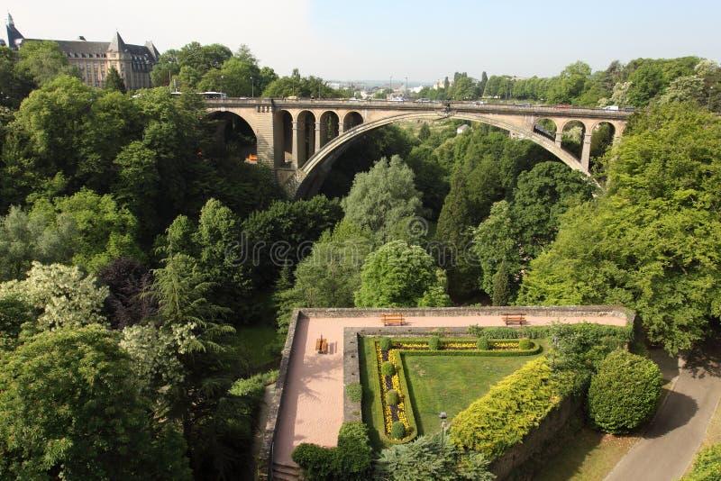 adolphe bro luxembourg royaltyfri fotografi
