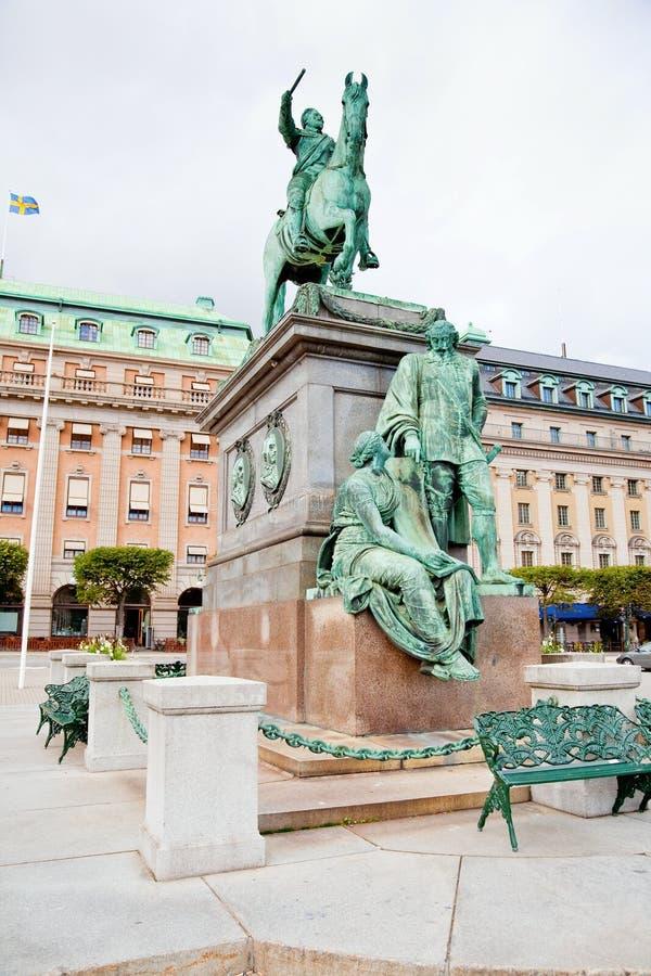 adolphus gustavus雕象斯德哥尔摩 库存照片
