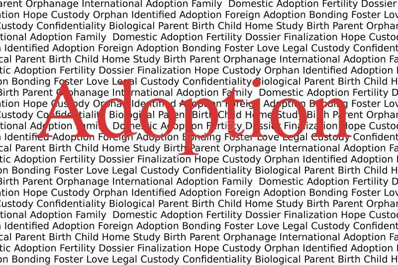 Adopção ilustração do vetor