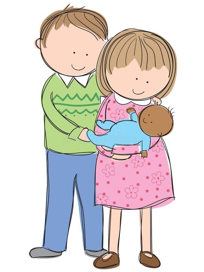 Adopção ilustração royalty free
