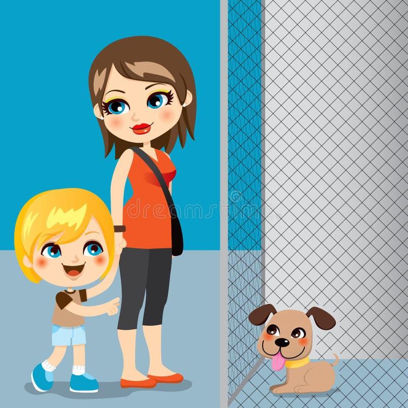 Adopção do animal de estimação ilustração do vetor