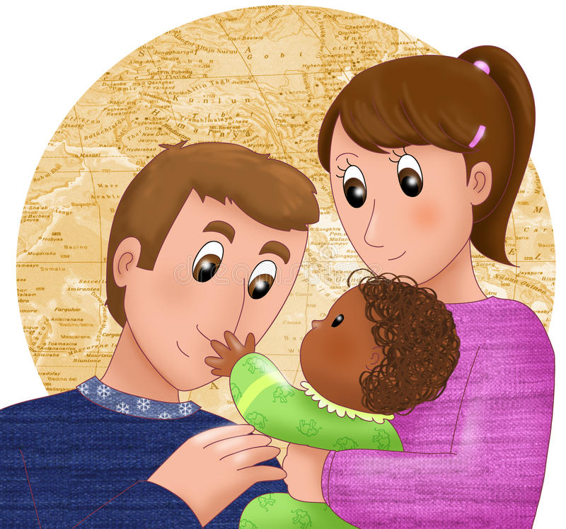 Adopción ilustración del vector