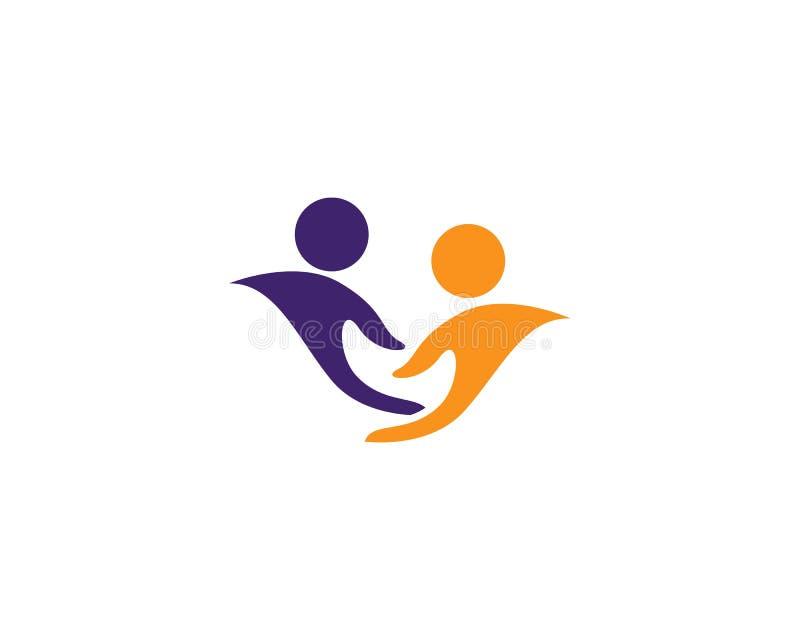 Adopcja, dzieci, społeczności miłości logo szablonu ikona ilustracja wektor