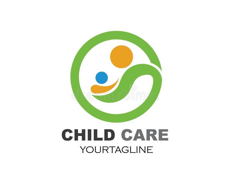 Adopcja, społeczność i ogólnospołeczny opieka logo szablonu vecto, ilustracji