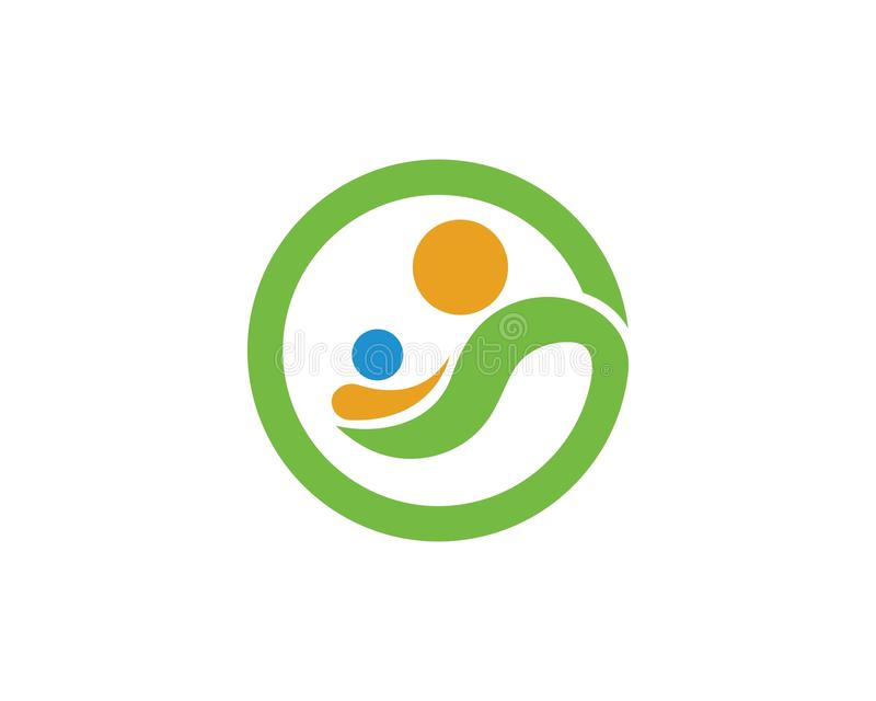 Adopcja, społeczność i ogólnospołeczny opieka logo szablonu vecto, ilustracja wektor