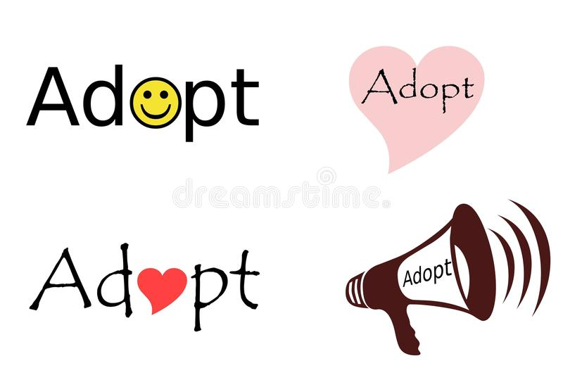 Adopt Collage royalty free illustration