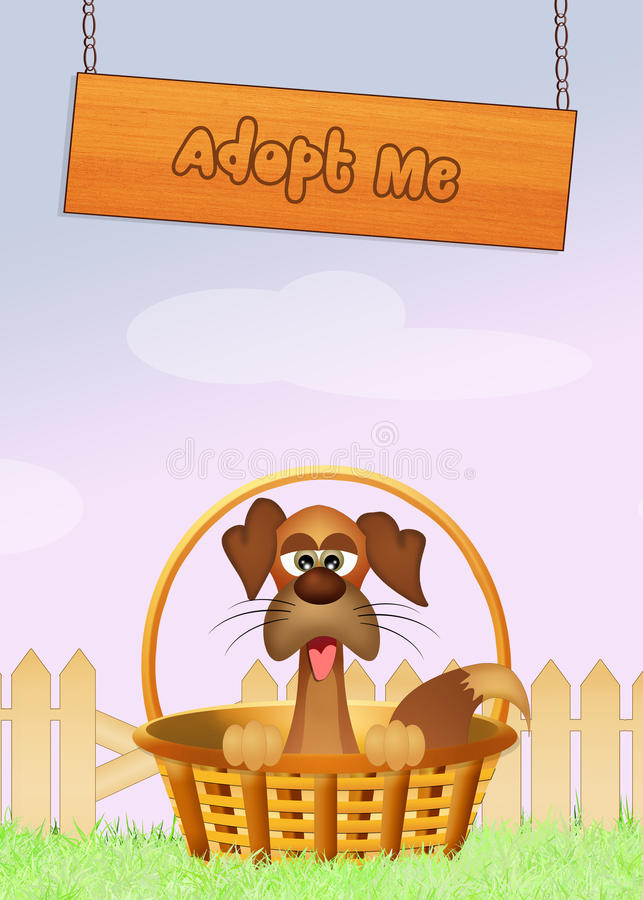 Adopt a dog royalty free illustration