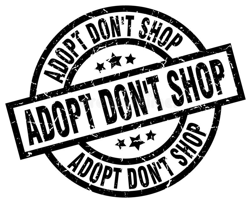 Adopt don`t shop round black stamp. Adopt don`t shop round grunge black stamp royalty free illustration