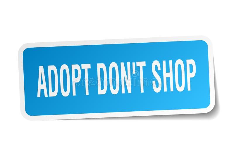 adopt don`t shop square sticker royalty free illustration